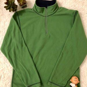 Lands End Green Fleece Half Zipper Pullover Boys